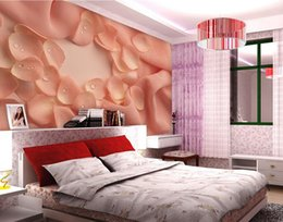 Wholesale Photo Wallpaper Wholesale - Photo any size Warm Colorful Petal Living Room Backdropmural 3d wallpaper 3d wall papers for tv backdrop