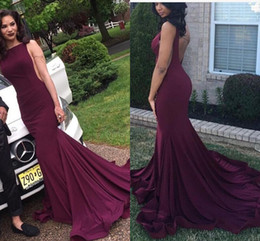 Wholesale Dark Coloured Evening Dress - 2017 Satin Chiffon Fabric Prom Dress Party Queen Burdundy Colour 2k16 Floor Length Lace Prom Dresses Evening Gowns