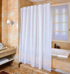 2019 tissu religieux Rideau de douche imperméable PEVA mildiou épais rideaux de salle de bains à billes motif avec crochets Free print wholesale LJ002