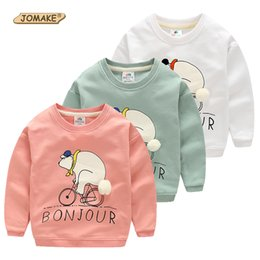 Wholesale Kids Pullover Sweatshirts - Wholesale- Cartoon Bear Kids Sweatshirts Spring Autumn Casual Baby Clothes For Boys and Girl Animal Pullovers Girls Tops Children Clothing