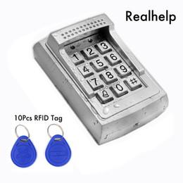 Canada Boîtier métallique Lecteur de lecteur RFID Accès par clavier autonome Système autonome 1000 Utilisateurs Accès sans contact par carte à puce Buzzer intégré Offre