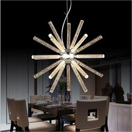 Wholesale Acrylic Bars - Creative modern minimalist Modern Led Hanging Pendant Lights Acrylic chandelier For Shop Bar Dining Kitchen Room AC85-265V Led pendant light