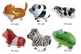 Wholesale Mylar Balloon Toys - 10pcs Lot, Free Shipping, Dinosaur Pet Walking Animals Balloons Hulium Mylar Balloons, Baby's toy, Party Decoration. Gift.