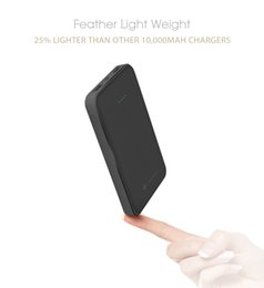 Wholesale Power Compact Lights - Andino PowerSLIM 10000mAh Ultra Light & Compact portable battery pack external charger power bank for mobile