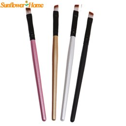 Wholesale Wholesale Wooden Pencils - Eyebrow Pencil Brush Eyelashes Eyes Cosmetic Makeup Brushes Tools Wooden Handle New fashion design 1pc Brand new high quality