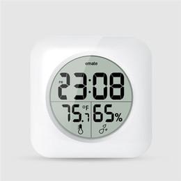 Argentina Reloj reloj electrónico digital moderno higrómetro termómetro metro dormitorio y cocina reloj de pared impermeable reloj LCD cuadrado supplier squared meters Suministro