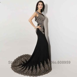 Wholesale Photos Fashion Models - 2016 Sexy Illusion Mermaid Evening Dresses Crystal Beads Long Prom Dress Party Lace Appliques Real Photo XU008
