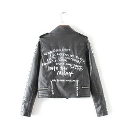 Wholesale Leather Jackets Branded - Wholesale- New autumn Fashion punk street brand style Women Lady's Rivet PU Leather Short Motorcycle Jacket Outerwear top quality