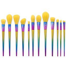 Wholesale Fantasy Lights - Makeup Brushes 12 Pcs Make Up Fantasy Set Foundation Blush Brush Eyeshadow Brush Full Color Makeup Brush Kit Tools Set