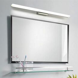 Wholesale Stainless Steel Mask - L39cm L49cm L59cm L69cm L89cm led mirror light stainless steel base acrylic mask bathroom vanity wall mounted lights FIXTURE