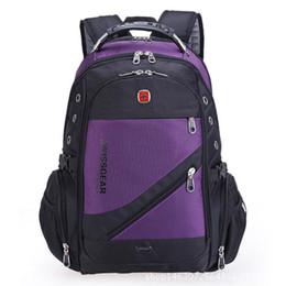 Wholesale New Style Laptops - Wholesale- 2016 the new quality water-proof Oxford saber backpack men 15 inch laptop bag sac DOS men bags backpacking in the Swiss movement