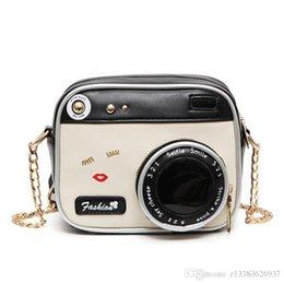 Wholesale Soft Camera Pouches - women Camera shaped handbag for women bags leather handbags women's pouch bolsas shoulder bag female messenger bags 2017 NEW