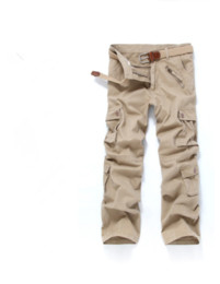 Wholesale Heavy Pants - Wholesale-Men's Hot Heavy Multi-Pockets Cargo Pants Loose Overall Male Tactical Commando Style 7 Colors Men's Full-Length Casual Trousers