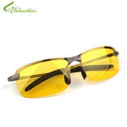Wholesale Anti Glare Driving Glasses - Wholesale- 2017 New Arrival Men's Glasses Car Drivers Night Vision Goggles Anti-Glare Polarizer Sun glasses Polarized Driving Sunglasses