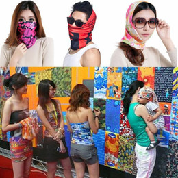 Wholesale Dhgate Girls - 2017 New Scarf Outdoor 40 colors Promotion Multifunctional Cycling Seamless Bandana Magic Scarfs Women Men Hot Hair band Dhgate Scarf