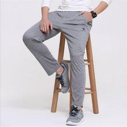 Wholesale Health Boys - Wholesale- Summer Men's Casual pants Fashion boy trousers 2017 Spring male casual straight health cheap pants Mens sweatpants plus size 6XL