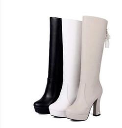 Wholesale Satin Beige Heels - New Arrival Hot Sale Specials Super Fashion Influx Martin Roman Leather Winter Warm Platform Cotton Noble Knight Heels Boots EU34-39