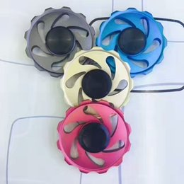 Wholesale Aluminium Circles - TOP newest hot Steering wheel fidget Spinner Fingertip Gyro aiming circle hand Spinner Decompression Anxiety Toys EDC Aluminium alloy