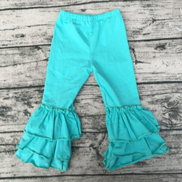 Wholesale Ruffle Girls Pants - hot sale baby children clothes solid color new products baby big ruffle pants wholesale kids boutique clothing