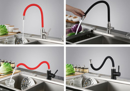 Wholesale Black Kitchen Pulls - Stainless steel hot and cold water 360° rotate bathroom faucet kitchen faucet