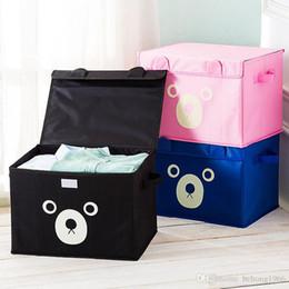 Wholesale Cloth Organizer Box - Storage Box Oxford Cloth Water Proof Cartoon Cute Teddy Bear Bin Sundries Clothes Toy Large Capacity Gift Case 13 5ms F R
