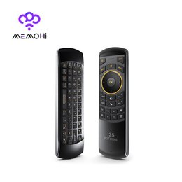 Wholesale Audio Control Android - Wholesale- MEMOHi i25 Russian English Multi-Media Remote Control Touchpad Handheld for Android TV BOX