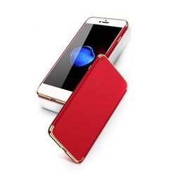 Wholesale hard grind - 2017 Hot Red Case High Quality PC Hard Cases Grind Arenaceous Electroplating Protective Back Cover Full Protective Shell