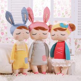 Wholesale angela dolls - Hot Metoo Plush Stuffed Animal Cartoon Kids Toys for Girls Children Baby Birthday Gift Angela Rabbit Girl Doll Cute Stuffed Toys