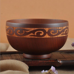 Eco Friendly Carved Wooden Bowls Kitchen Tableware Feeding Food Containers Dinnerware Hot Sell High Quality & Wooden Kitchen Bowls NZ | Buy New Wooden Kitchen Bowls Online from ...