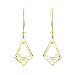 Wholesale 925 Square Hoop Earrings - Wholesale 10Pcs lot 2017 Newest Fashion Big Hoop Earrings Square Studs 18K Gold Earrings For Women Cute Tiny Bird Stud Earrings 925 Silver
