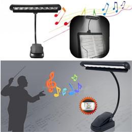 2019 suportes para lâmpadas flexíveis 9 Lâmpada de mesa LED Lâmpada de mesa de luz 9 LED Clip Light Braço de orquestra Flexível Adaptador de suporte de música Livro Lâmpada de leitura Lâmpada recarregável desconto suportes para lâmpadas flexíveis