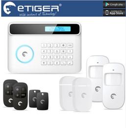 Wholesale Gsm Home Intruder Alarm System - LS111- Free Shipping Home security Intruder Burglar gsm sms eTiger alarm S4 GSM PSTN alarm system For Home Office Factory