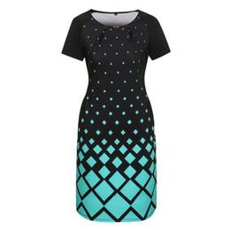 Wholesale dresses size 6xl - 6XL Fashion Women Dresses Summer Big Loose Spring Plus Size Women Clothing Dress Casual O-neck Plaid Office Party Bodycon Dress