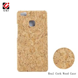 Wholesale Drop Shipping Phone Cases - Luxury U&I Blank Cork Wood Case for Huawei Huawei P8 P9 Lite Phone Protector PC Back Cover for HUAWEI P8Lite P9Lite Drop Shipping