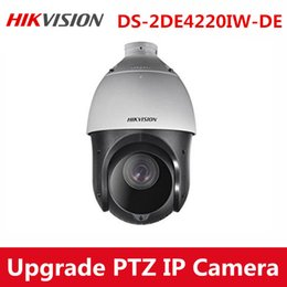Wholesale Dome Outdoor Zoom - Hikvision Upgradable english DS-2DE4220IW-DE 2MP 20x Zoom PTZ Speed POE CCTV IP Network Outdoor waterproof IP66 Dome Camera with Bracket