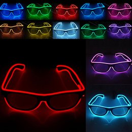 gafas de cumpleaños Rebajas LED Party Glasses Fashion EL Wire glasses Cumpleaños Fiesta de Halloween Bar Decorativo proveedor Luminous Glasses Eyewear WX-G03