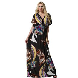 2017 New Vintage Rayon Summer Women Black Empire Dress Ladies Deep V-neck  Cap Sleeve Butterfly Print Dresses Plus Size 4XL 6XL viscose ladies casual  summer ... aa9259be2564