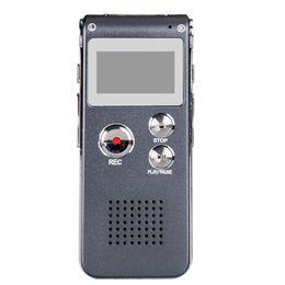 2019 mejor grabadora de voz mp3 Al por mayor-Usb Mini Digital 8 gb Grabadora de voz Pen dictáfono reproductor de mp3 Grabadora Gravador De Voz Enregistreur Vocal Rec teléfono gris