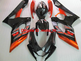 Wholesale Orange Gsxr Fairings - Top selling Fairing kit for Suzuki injection molding GSXR1000 2005 2006 burnt orange black motorbike fairings set GSXR 1000 05 06 YU56
