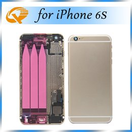 Wholesale Middle Frame Iphone Complete - High Quality A+++ 4.7 inch Complete Phone Housing For iphone 6s Back Housing Back Battery Door Cover Mid Middle Frame Parts Assembly