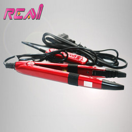 keratin for hair Promo Codes - Wholesale- Freeshippinng Red Color Tem Control Fusion Iron For Keratin Pre Bonded Hair Extensions Tools Mini Hair Iron Fusion Connector