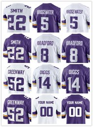 Wholesale Jersey Color Blue - New Color Rush 22 Harrison Smith Jersey 55 Anthony Barr 5 Teddy Bridgewater 14 Stefon Diggs Rugby Jerseys