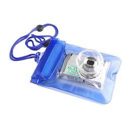 Wholesale Waterproof Floating Camera Bag - Malloom 2016 Mini Digital Camera Waterproof Bags Video Waterproof Cases Underwater Swimming Diving Floating Top quality #LYFE23