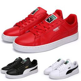 Wholesale Style Leather Mens Boot - 2017 wholesale Puma Sport Style Suede Womens Mens Running Shoes,Original Pumas Rihanna shoes sneakers red 36-45 Free Shipping