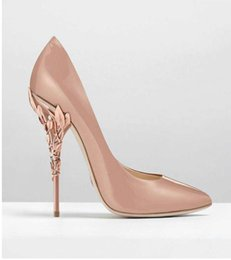 Wholesale Pink Animations - Hot Selling Popular New designs point high heels shoes fine silks and satins British wind lighter pair sexy wedding shoes DHL free