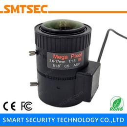 "Wholesale Dc Auto Iris Cctv Lens - Wholesale- SL-3617A3MP 3MP HD 3.6-17mm Manual zoom DC Auto IRIS 1 1.8"" CS Mount Megapixels CCTV Lens For HD IP Security Camera"
