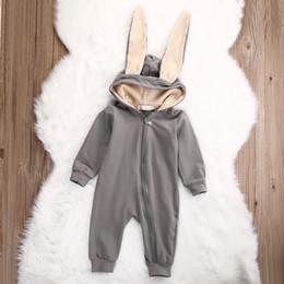 Wholesale Big Ear Bunny - 2017 kids clothes Kid's Big Ears Bunny Autumn Gloomy Hajun Boy Toughen