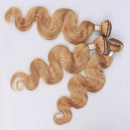 2019 billige haarverlängerung farbe 27 27 Honig Blonde Peruanische Reine Haareinschlagfaden 3 Bundles Günstige Körperwelle Menschliches Haar Spinnt Reine Farbe Doppelschuss Remy Extensions günstig billige haarverlängerung farbe 27