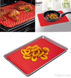 Rote silikon-pads online-Rote Pyramide Backformen Pfanne Antihaft Silikon Backmatten Pads Formen Kochmatte Ofen Backblech Blatt