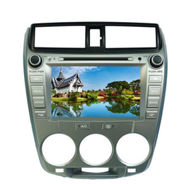 "Wholesale German Cities - 8"" Honda City 2008 2009 2010 2011 Car DVD player with GPS navigation(optional),USB SD,AUX,BT TV,audio Radio stereo,car multimedia headunit"